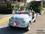 Noleggio Fiat 500 cabrio d'epoca De Simone Wedding Service1