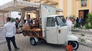 servizio aperitivo con apecar per cerimonie matrimonio eventi napoli de simone wedding service (3)