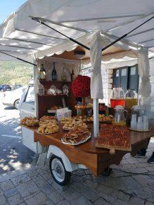 servizio aperitivo con apecar per cerimonie matrimonio eventi napoli de simone wedding service (4)