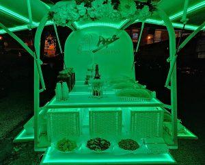 Noleggio Ape Aperitivo per feste serali promessa di matrimonio Napoli (3)